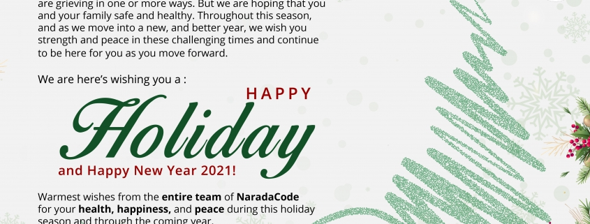 Happy Holiday and Happy New Year 2021!